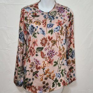 Massimo Dutti Floral Silky Blouse